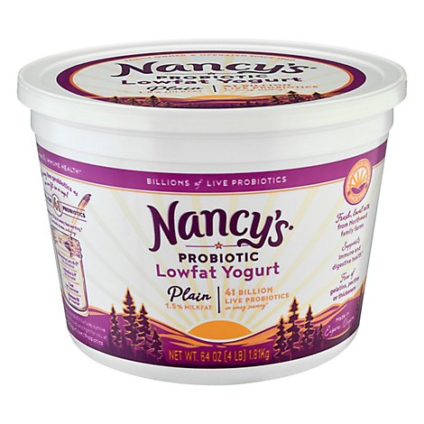Nancys Yogurt Low Fat Plain - 64 Oz