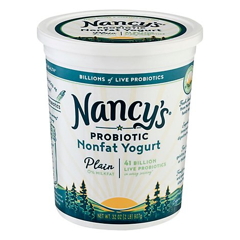 Nancys Yogurt Fat Free Plain - 32 Oz