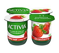 Activia Probiotic Yogurt Lowfat With Bifidus Strawberry - 4-4 Oz