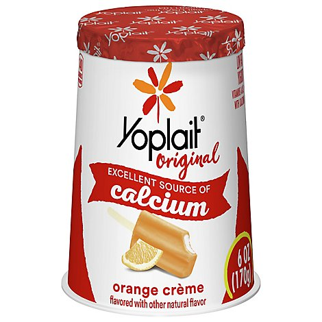 Yoplait Original Yogurt Low Fat Orange Creme - 6 Oz