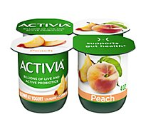 Activia Probiotic Yogurt Lowfat With Bifidus Peach - 4-4 Oz