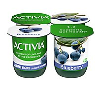 Activia Probiotic Yogurt Lowfat With Bifidus Blueberry - 4-4 Oz