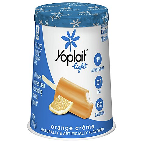 Yoplait Light Yogurt Fat Free Orange Creme - 6 Oz