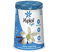 Yoplait Light Yogurt Fat Free Very Vanilla - 6 Oz