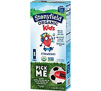 Stonyfield Organic Yokids Squeezers Yogurt Strawberry - 8-2 Oz