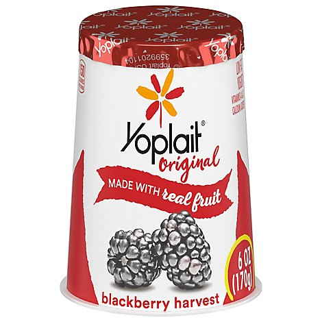Yoplait Original Yogurt Low Fat Blackberry Harvest - 6 Oz