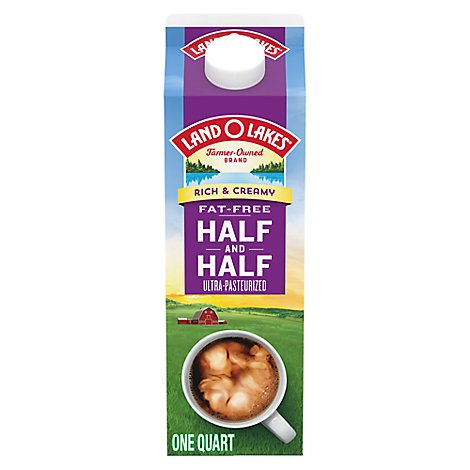 Land O Lakes Half and Half Fat Free Rich & Creamy - 1 Quart