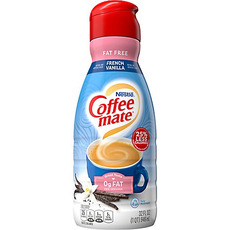 Coffeemate Coffee Creamer French Vanilla Fat Free - 32 Fl. Oz.