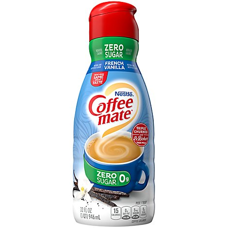 Coffeemate Coffee Creamer French Vanilla Sugar Free - 32 Fl. Oz.