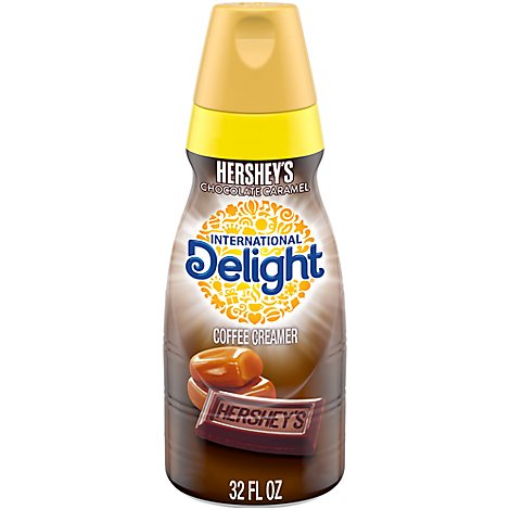 INTERNATIONAL Delight Coffee Creamer Gourmet Hersheys Chocolate Caramel - 32 Fl. Oz.
