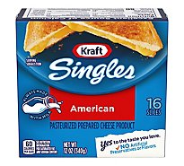 Kraft Singles Cheese Product Pasteurized Prepared Slices American - 16 Count