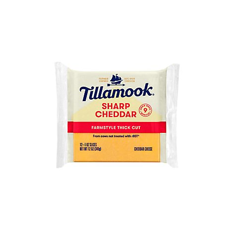 Tillamook Sliced Sharp Cheddar Cheese - 12 Oz