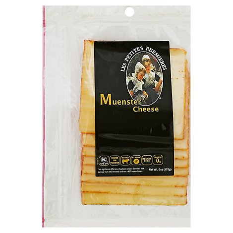 Les Petites Fermieres Kosher Sliced Muenster Cheese - 6 Oz