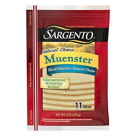 Sargento Cheese Slices Deli Style Muenster 11 Count - 8 Oz