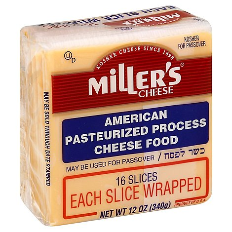 Millers Cheese Sliced American Cheese - 12 Oz