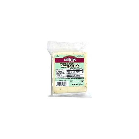 Millers Cheese Herb Garlic Yogurt Cheese - 6 Oz