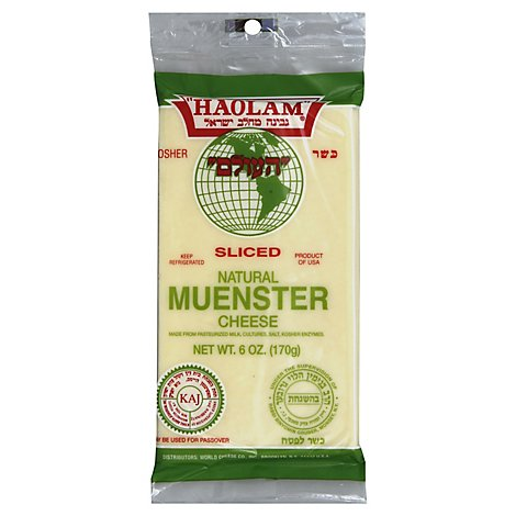 Haolam Sliced Muenster Cheese - 6 Oz
