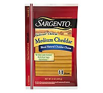 Sargento Cheese Slices Deli Style Medium Cheddar 11 Count - 8 Oz