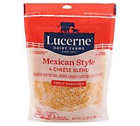 Lucerne Cheese Finely Shredded Mexican Four Cheese Blend - 16 Oz