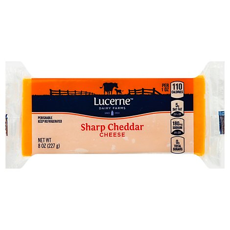 Lucerne Cheese Sharp Cheddar - 8 Oz
