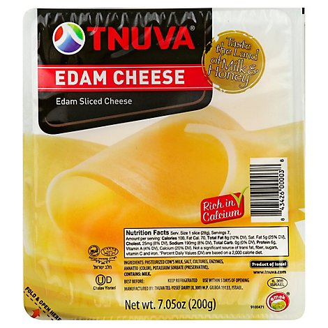 Tnuva Kosher Natural Sliced Emek Cheese - 7.05 Oz