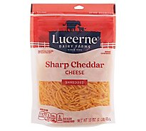 Lucerne Cheese Shredded Cheddar Sharp - 16 Oz