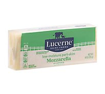 Lucerne Cheese Natural Mozzarella Low Moisture Part Skim - 8 Oz