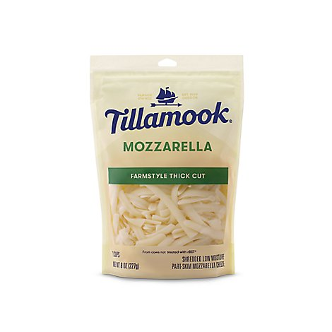 Tillamook Shredded Mozzarella Cheese - 8 Oz