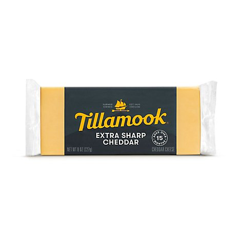 Tillamook Extra Sharp Cheddar Cheese - 8 Oz