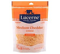 Lucerne Cheese Shredded Medium Cheddar - 8 Oz