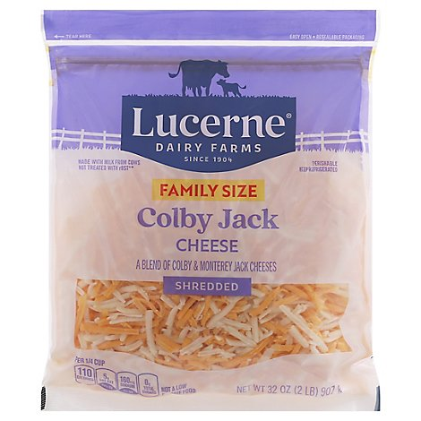Lucerne Cheese Shredded Colby Jack - 32 Oz