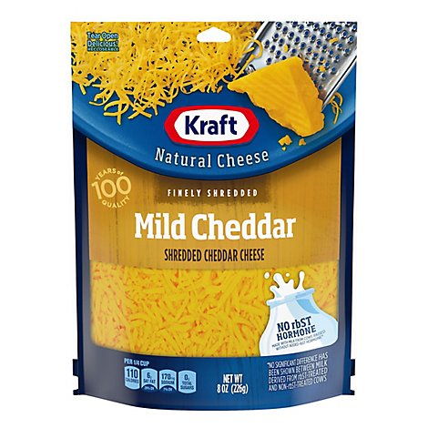 Kraft Natural Cheese Finely Shredded Mild Cheddar - 8 Oz