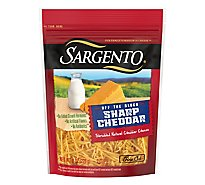Sargento Off the Block Cheese Shredded Fine Cut Cheddar Cheese - 8 Oz