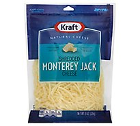 Kraft Cheese Natural Shredded Monterey Jack - 8 Oz