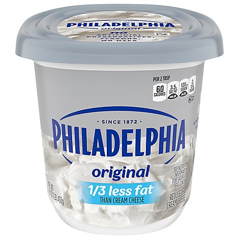 Philadelphia Cheese Cream Reduced Fat 1/3 Less Fat - 16 Oz