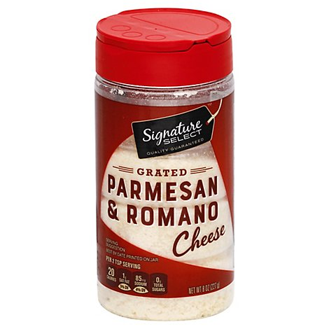 Signature SELECT Cheese 100% Grated Parmesan & Romano - 8 Oz