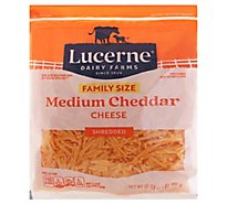 Lucerne Cheese Shredded Medium Cheddar - 32 Oz