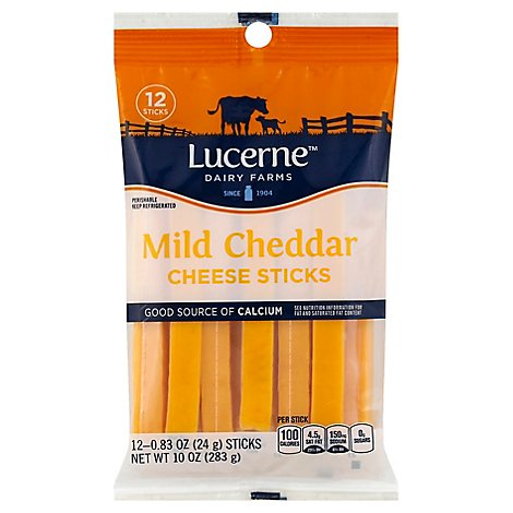 Lucerne Cheese Sticks Cheddar Mild - 12-1 Oz