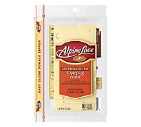 Alpine Lace Cheese Swiss 25% Reduced Fat Deli Thin 10 Count - 8 Oz
