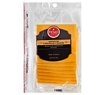 Primo Taglio Cheese Cheddar Medium Sliced - 8 Oz