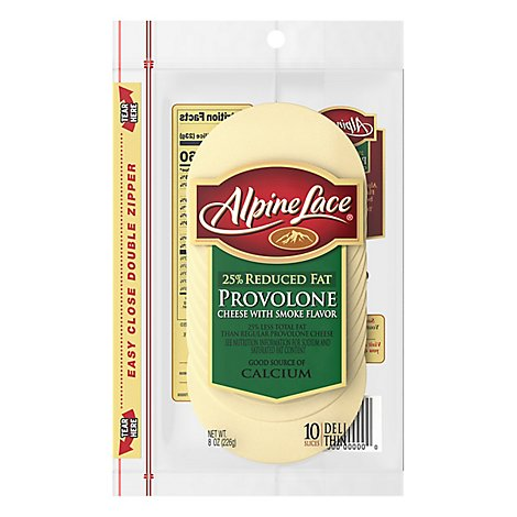 Alpine Lace Cheese Sliced Provolone With Smoked Flavor - 8 Oz