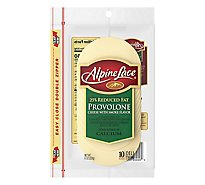 Alpine Lace Cheese Provolone 25% Reduced Fat Deli Thin Slices - 10 Count