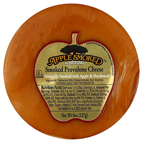 Red Apple Cheese Apple Smoked Provolone Deli Vacuum Pack - 8 Oz
