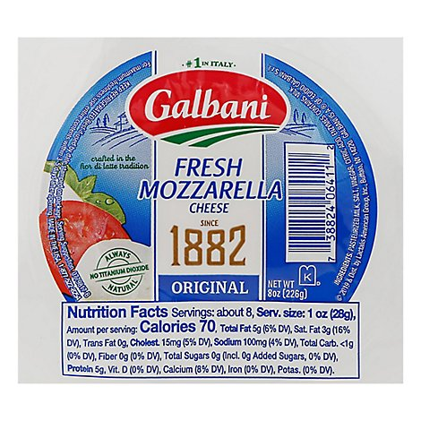 Galbani Cheese Mozzarella Fresca Fresh - 8 Oz