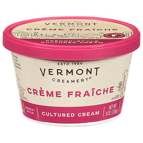 Vermont Creamery Cultured Cream French Style Creme Fraiche - 8 Oz