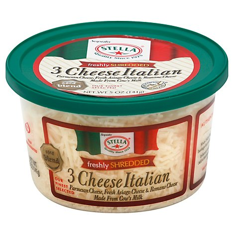 Stella Cheese 3 Cheese Italian Freshly Shredded - 5 Oz