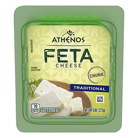 Athenos Cheese Feta Crumbled Traditional - 8 Oz