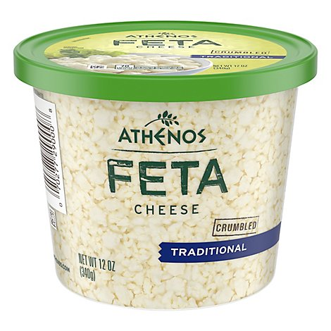 Athenos Crumbled Feta Cheese Traditional Large - 12 Oz.