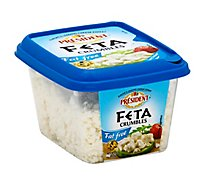 President Cheese Feta Crumbled Fat Free - 6 Oz