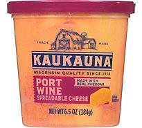 Kaukauna Spreadable Port Wine Cheese Cup - 6.5 Oz.